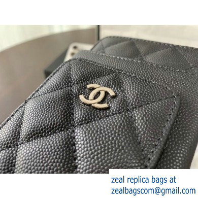 chanel caviar leather classic clutch with chain black with silver hardware 2020