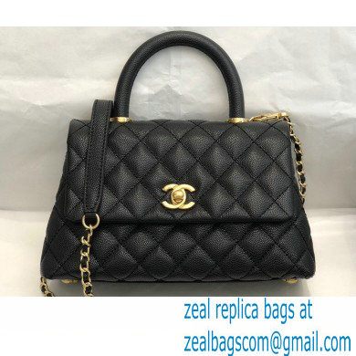Chanel Coco Handle Small Flap Bag Black with Top Handle A92990 Top Quality 7147