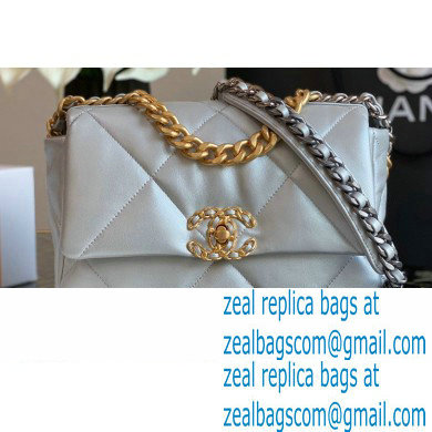 Chanel 19 Small Flap Bag AS1160 Leather Silver 2020