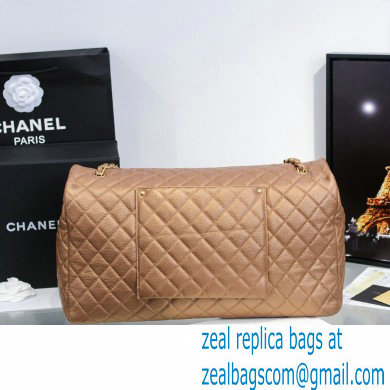 Chanel Calfskin XXL Large Classic Flap Travel Bag A91169 Gold
