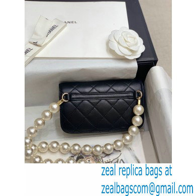 Chanel Calfskin and Pearls Clutch with Chain Bag AP1898 Black 2020
