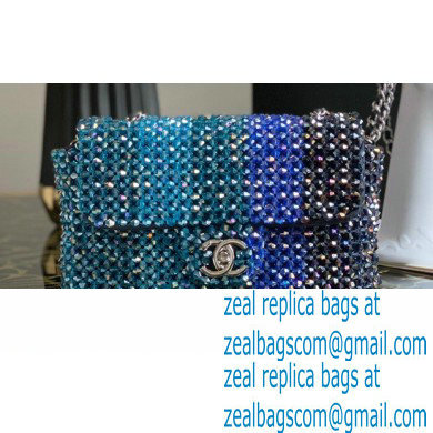 Chanel Crystal Classic Flap Bag AS1770 Blue 2020