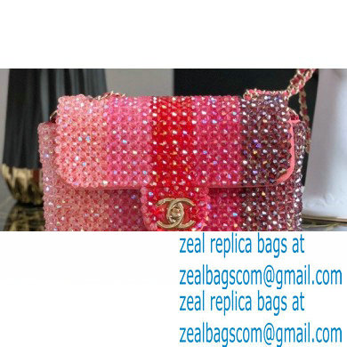 Chanel Crystal Classic Flap Bag AS1770 Pink 2020