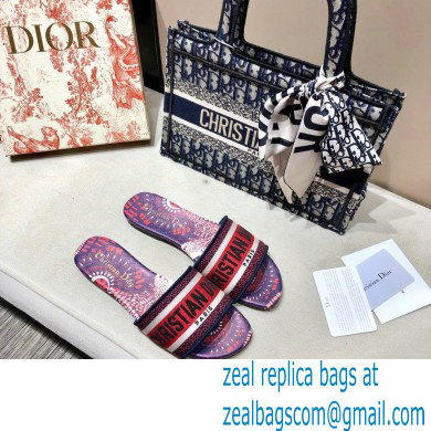 Dior Dway Mules in Embroidered Cotton 12 2020