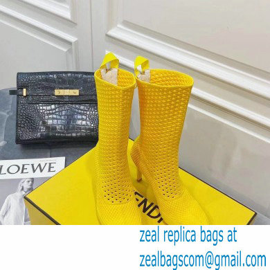 Fendi Elasticated Lace Promenade Ankle Boots Yellow 2021