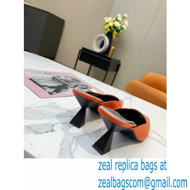 Givenchy Asymmetrical Heel 6.5cm Mules Orange 2021