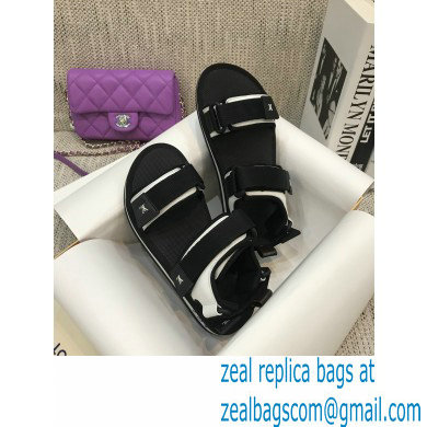 Louis Vuitton Arcade Flat Sandals Black 2021