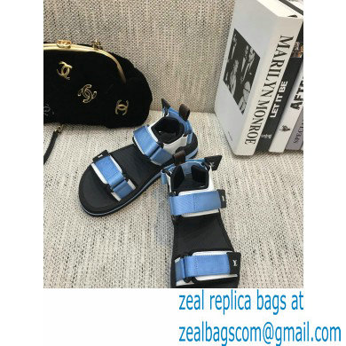 Louis Vuitton Arcade Flat Sandals Blue 2021