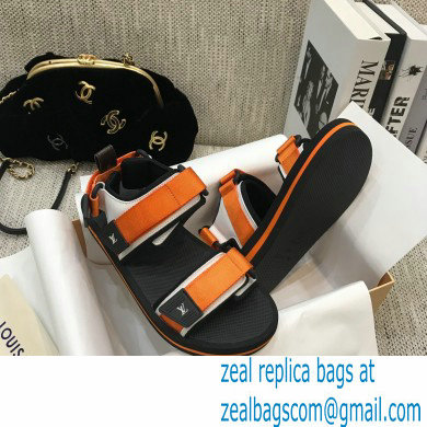Louis Vuitton Arcade Flat Sandals Orange 2021