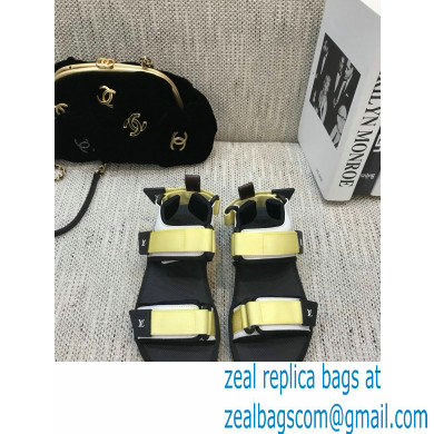 Louis Vuitton Arcade Flat Sandals Yellow 2021