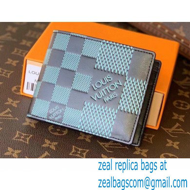 Louis Vuitton Damier Infini 3D Leather Multiple Wallet N60440 Green 2021
