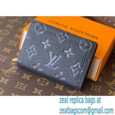 Louis Vuitton Monogram Empreinte Leather Clea Wallet M80151 Black 2021