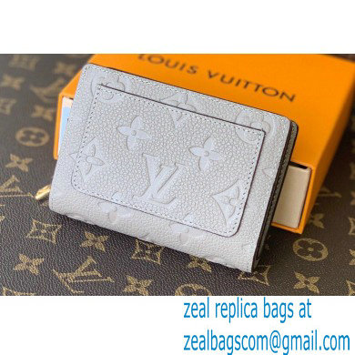Louis Vuitton Monogram Empreinte Leather Clea Wallet M80152 Tourterelle Beige 2021