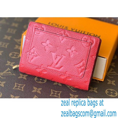 Louis Vuitton Monogram Empreinte Leather Clea Wallet Red 2021