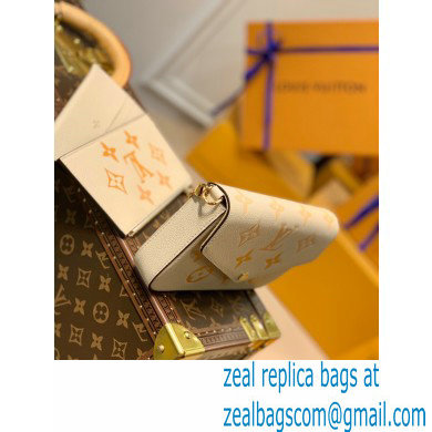 Louis Vuitton Monogram Empreinte Leather Felicie Pochette Bag M80498 Cream/Saffron By The Pool Capsule Collection 2021