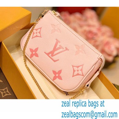 Louis Vuitton Monogram Empreinte Leather Mini Pochette Accessoires Bag M80501 Bouton de Rose Pink By The Pool Capsule Collection 2021