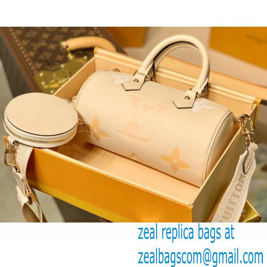 Louis Vuitton Monogram Empreinte Leather Papillon BB Bag M45708 Cream/Saffron By The Pool Capsule Collection 2021