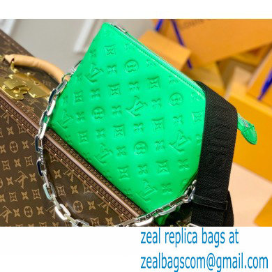Louis Vuitton Monogram-embossed Lambskin Coussin PM Bag M57936 Green 2021